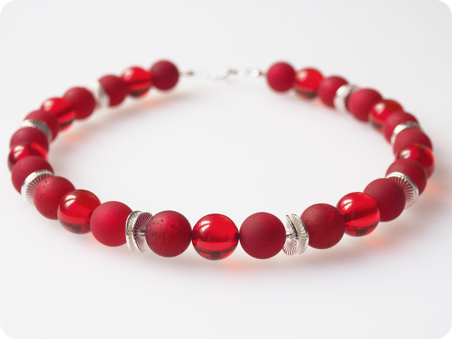 Polariskette rot silber Collier